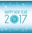 happy new year 2017 greeting card glitter vector image
