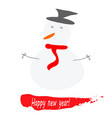 happy new year card with snowman vector image vector image