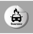 insurance icon design vector image vector image
