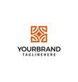 interior store logo design concept template vector image vector image