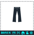 jeans icon flat vector image vector image