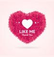 like me thanks you social media concept vector image vector image