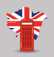 london telephone booth public traditional and map vector image vector image