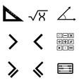 math icon set vector image vector image