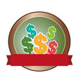 money symbol isolated icon vector image