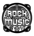 monochrome pattern on theme of rock music vector image vector image