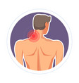 neck injury pain or ache isolated icon medicine vector image vector image
