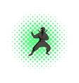 Ninja icon comics style vector image vector image