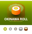 Okinawa roll icon in different style vector image vector image