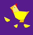 origami chicken and chicken vector image vector image