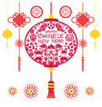 Papercut Lantern Chinese New Year vector image