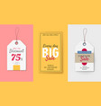 price tags for sale campaign in flat style vector image vector image