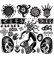 Primitive art silhouettes vector | Price: 1 Credit (USD $1)