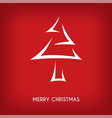 red abstract merry christmas tree arrow vector image vector image