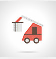 red loading truck flat color icon vector image vector image