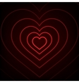 Red Neon heart Background vector image vector image