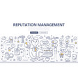 reputation management doodle concept vector image vector image
