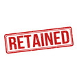 retained grunge rubber stamp vector image vector image