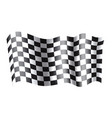 rippled black and white crossed checkered flag vector image vector image