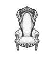 royal throne sketch vector image vector image