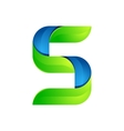 S letter leaves eco logo volume icon vector image vector image