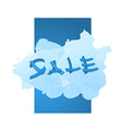sale promo banner vector image vector image