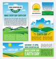 save planet nature templates for earth day vector image vector image