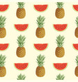 seamless pattern with ripe fruit on light backdrop vector image vector image