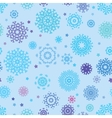 Seamless snowflakes background for winter EPS 8 vector image vector image