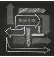 set chalk drawing arrows vector image
