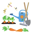 set of elements on a garden theme vector image