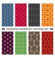 set seamless decorative geometric shapes vector image vector image