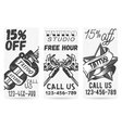 set vintage templates for tattoo studios vector image vector image
