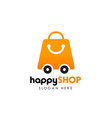 shop delivery logo design template shopping logo vector image vector image