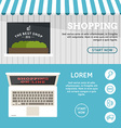Shopping On-line Set of Flat Design Concepts for vector image vector image