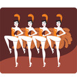 showgirls vector image vector image