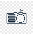 sink concept linear icon isolated on transparent vector image