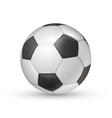 soccer ball icon football game sport vector image