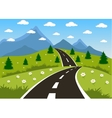 spring or summer road to mountain vector image