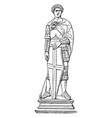 st george sculpture made by donatello in florence vector image vector image