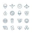 superhero line icons vector image