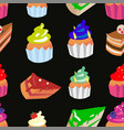 sweet confectionery seamless pattern vector image