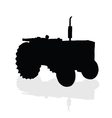 tractor black silhouette vector image vector image