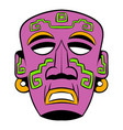 tribal mask icon cartoon vector image vector image