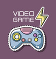 videogame console simulator with energy symbol vector image vector image