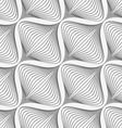 White diagonal wavy net layered on gray seamless vector image