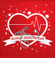 world health day concept with doctor stethoscope vector image vector image