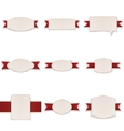 Festive realistic Banners with Ribbons Set vector image