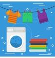 Laundry square concept vector image