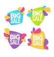 end of season big sale collection of bright vector image